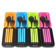 Protable Novelty A Box Cutlery Chopsticks Spoon Fork Travel Set Storage Case LJ