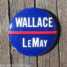 Vintage Original WALLACE LEMAY political campaign pinback button 1968 NOS unused
