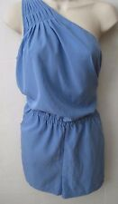 BANANA REPUBLIC Women's Blue One Shoulder Romper Short Size 10  NWT