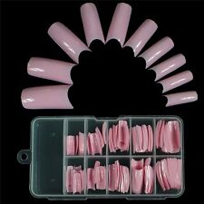 100x Artificial Nail Art False French Style Fake Tips Half Acrylic Cosmetic OUS