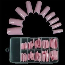 100x Artificial Nail Art False French Style Fake Tips Half Acrylic Cosmetic  DCA