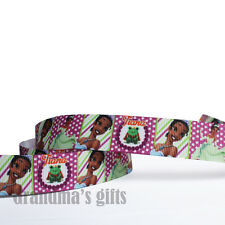 "7/8""22mm Frog Princess Printed Grosgrain Ribbon 10/50/100Yards Hairbow Wholesale"