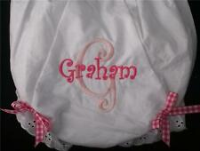 Personalized Monogrammed Diaper Covers Baby Toddler Bloomers Big Initial Design