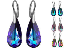 925 Sterling Silver Earrings made with Swarovski Crystals - Teardrop 24mm