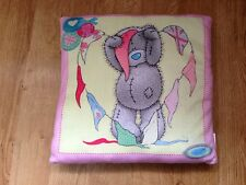 New-Me To You Bear Cushion/Pillow Pink,Yellow and Green -Girls Bedroom