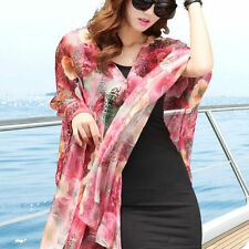 Fashion Women Chiffon Sunscreen Scarf Big Size Sun Block Silk Scarf Beach Shawl