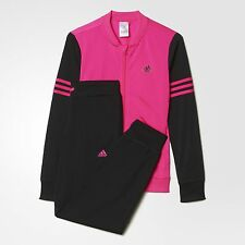 Adidas Girls Training Bomber Jacket Track Suit  Color Shock Pink/Black AY5385