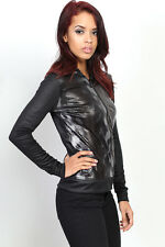 TheMogan Leopard & Snake Metallic Zip Up Hoodie Casual Slim Hood Jacket