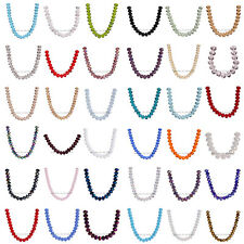 New 6x4mm Faceted Glass Crystal Charms Findings Rondelle Loose Beads 111Colors
