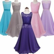 Kids Flower Girl Dress Birthday Wedding Bridesmaid Formal Pageant Recital Party