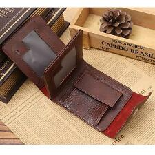 Fashion Men Zipper Leather Coins Card Trifold Holder Purse Money Bag Hasp Wallet