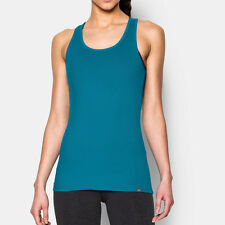 Under Armour Tech Victory Womens Blue Running Sports Vest Tank Top Singlet