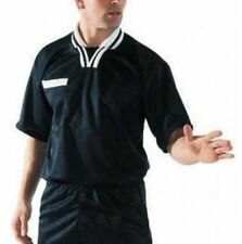 FOOTBALL SPORTS CLOTHING FITTED V-NECK STYLE SHORT SLEEVE REFEREE SHIRT JERSEY