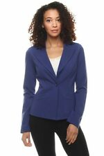 Dazz Chic Single Button Collared Long Sleeve Formal Blazer Jacket Suiting Top