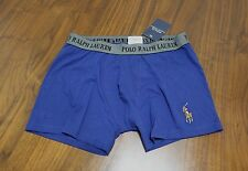 Polo Ralph Lauren Men Blue Cotton Stretch boxer brief underwear Size S or M