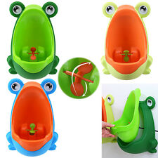Boys Potty Stand Vertical Urinal Toilet Training Wall-Mounted Frog Pee Trainer