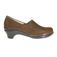 Aravon by New Balance MARA Womens Tan Brown Leather Comfort Slip On Shoes
