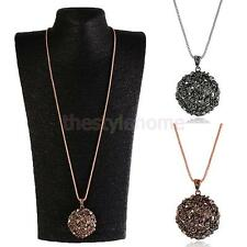 Vintage Fashion Charm Jewelry Crystal Retro Long Pendant Sweater Chain Necklace