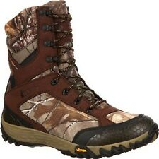 Mens Rocky SilentHunter Waterproof Insulated Camo Hunting Boot Size 8-13 RKYS116