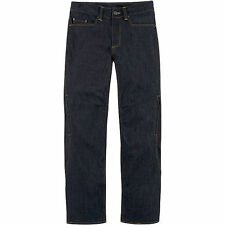 Icon Mens Insulated Denim Street Motorcycle Jeans Pants Blue All Sizes