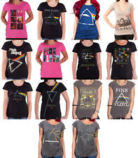 Pink Floyd womens T Shirt Dark Side of the moon band logo official skinny fit