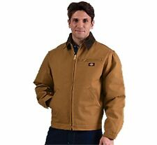 Dickies Men's Classic Brown Duck Coat with Blanket Lining in Sizes 3XL-4XL-5XL