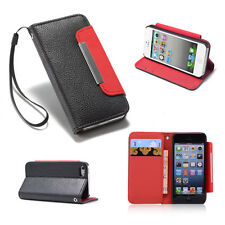 STAND BOOK WALLET PU LEATHER CASE COVER FOR APPLE IPHONE 4 4S + SCREEN PROTECTOR