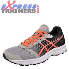 Asics Patriot 8 Womens Running Shoes Fitness Gym Trainers Grey Black