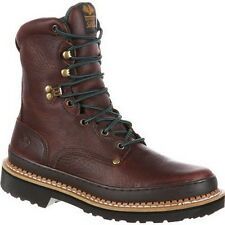 "Mens Georgia 8"" Giant Steel Toe Brown Leather Safety Work Boot Size7-17 G8374"