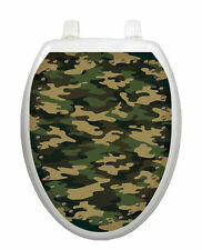 Army Camouflage Camo Toilet Tattoo  Removable Reusable Bathroom Decoration