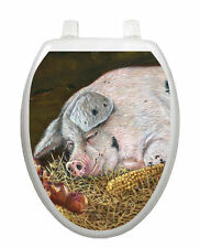 Hog Heaven Toilet Tattoo  Removable Reusable Bathroom Decoration