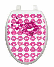 Hot Lips Toilet Tattoo  Removable Reusable Bathroom Decoration
