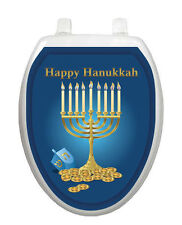 Menorah Toilet Tattoo - Removable Reusable Bathroom Holiday Decoration