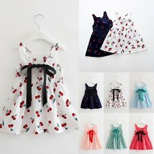New Baby Girls Dress Toddler Kids Girl Princess bowknot Flower Party  Clothes