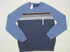 GAP MENS BLUE STRIPED CREW NECK SWEATER SIZE SMALL NWT