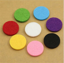 Pick(100 Pack)Aromatherapy Essential Oil Perfume Diffuser Locket 30mm Refill Pad