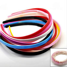 Mixed Color Plastic Hairbands Simple Hair Accessory Teeth Headbands Hair Comb EF