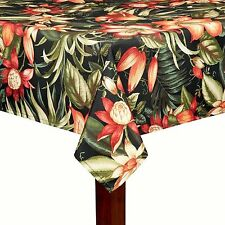 TOMMY BAHAMA INDOOR /OUTDOOR TABLECLOTH-WATER REPELLENT-ASSORTED SIZES-OBL.& RND
