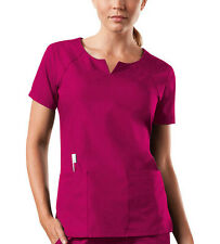 Raspberry Cherokee Workwear Round Neck Scrub Top 4824 RASW