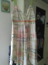 Monsoon retro print summer dress Size 16