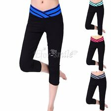 Womens Exercise Leggings Running Yoga Sports Fitness Gym Stretch Pants Trousers
