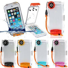 For iPhone 6s/6 Plus SE 5S 5 Waterproof Underwater 40m Diving Housing Case Cover