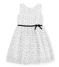 Carters Toddler Girls Flocked Polka Dot & Tulle Dress 4 5 6 6X Clothes