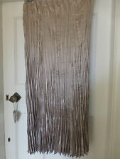 BNWOT MAXI SKIRT ELASTICATED WAIST CRINKLE PLEATS PEWTER WITH A SHEEN SIZE 16/20