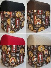 Quilted Morning Coffee Kitchenaid 7 & 8qt Lift Bowl Stand Mixer Cover w/Pockets