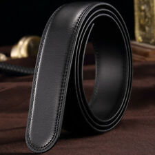 2 X 3.5cm Mens Belt Faux Leather Automatic Strap Waist Strap Craft DIY Black
