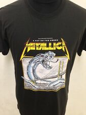 New vintage style 80s Metallica old skool rock band tee t-shirt size M L