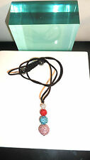 SHAMBALLA NECKLACE - GENUINE DISCO BALL - PAVE BEAD CRYSTAL - 1000 SOLD- A+FBK