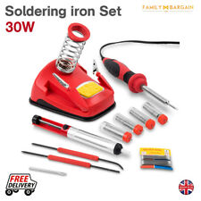 30W Soldering Iron Kit Mains Powered Practical Stand Solder Wire Sponge Hobby