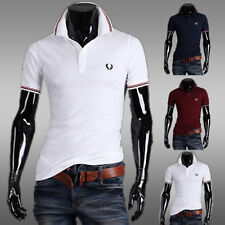2016 New Mens Stylish Casual Slim Fit Short Sleeve Polo Shirt T-shirts Tee Shirt